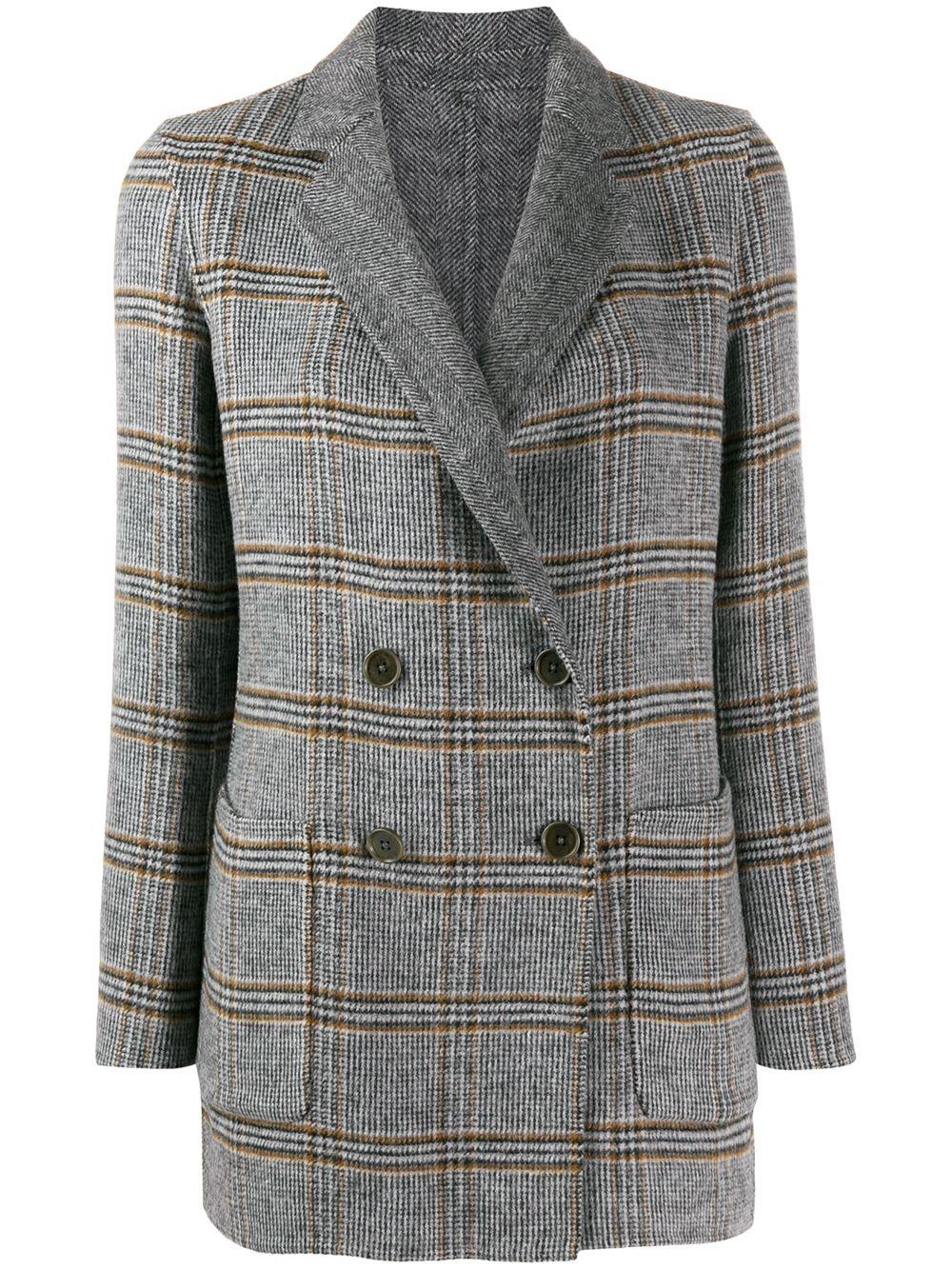 Twinset   пальто в клетку   Clouty