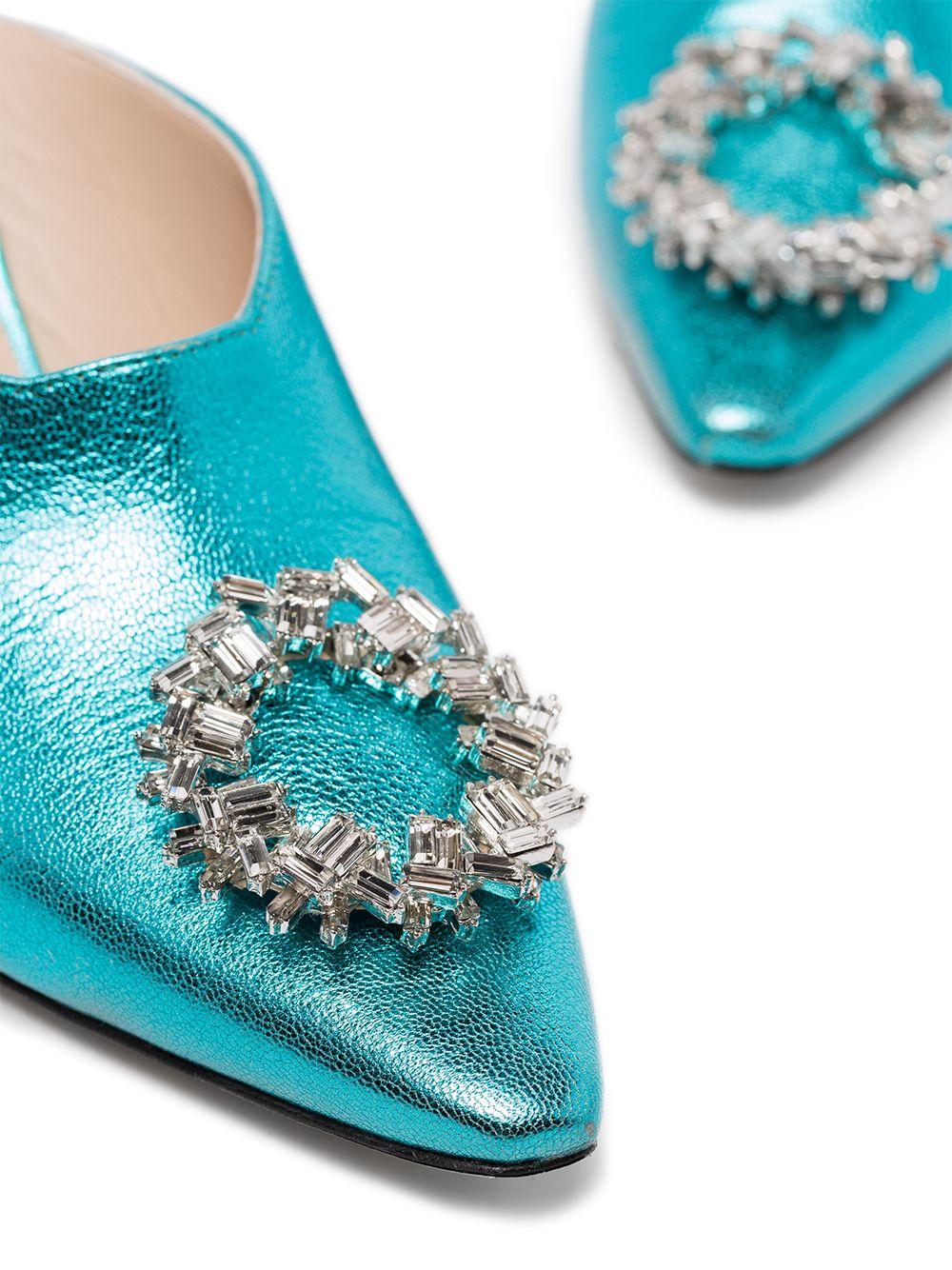 Wandler | мюли Lottie 75 с кристаллами | Clouty