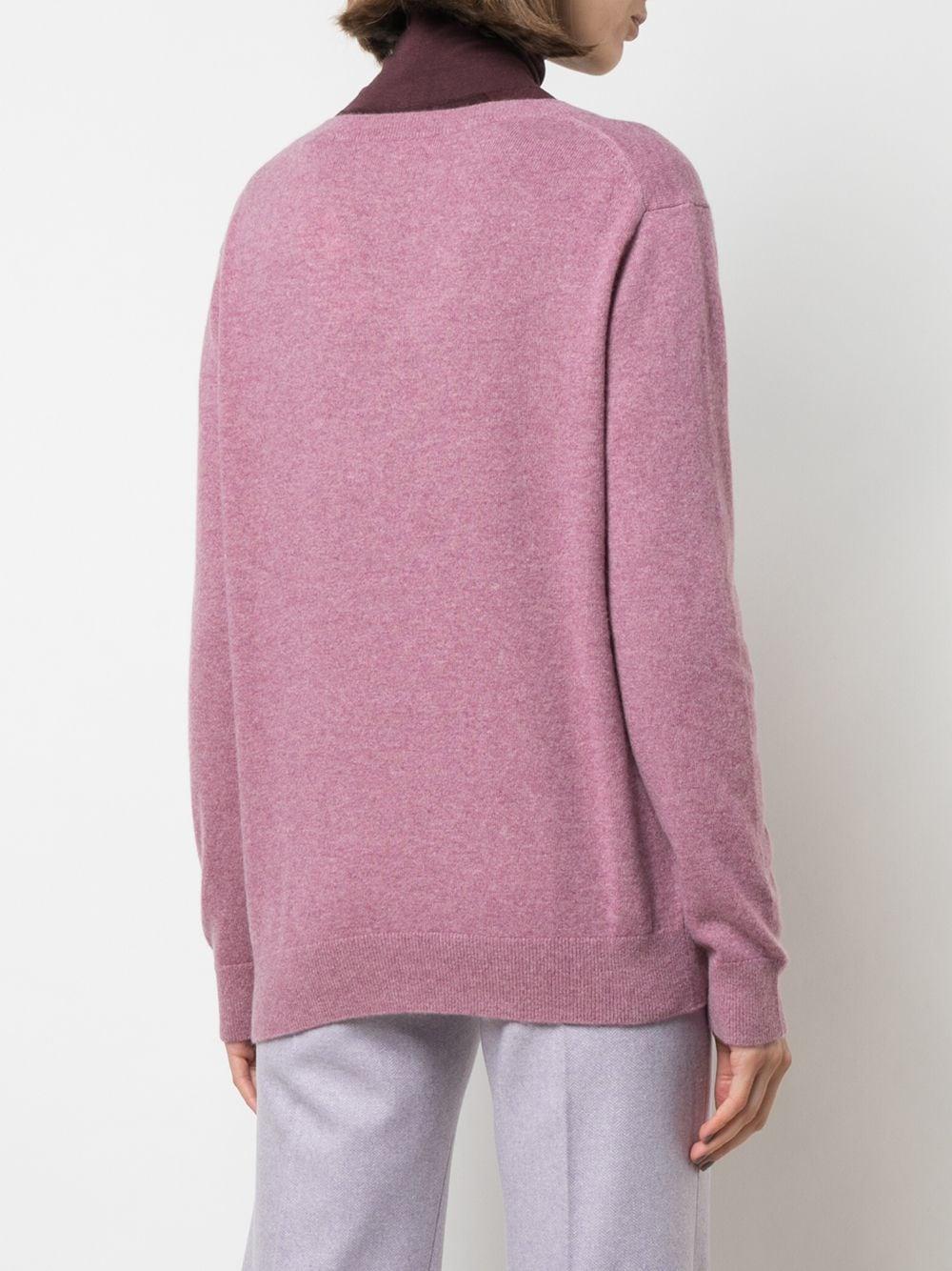 Vince   кашемировый пуловер с V-бразным вырезом   Clouty