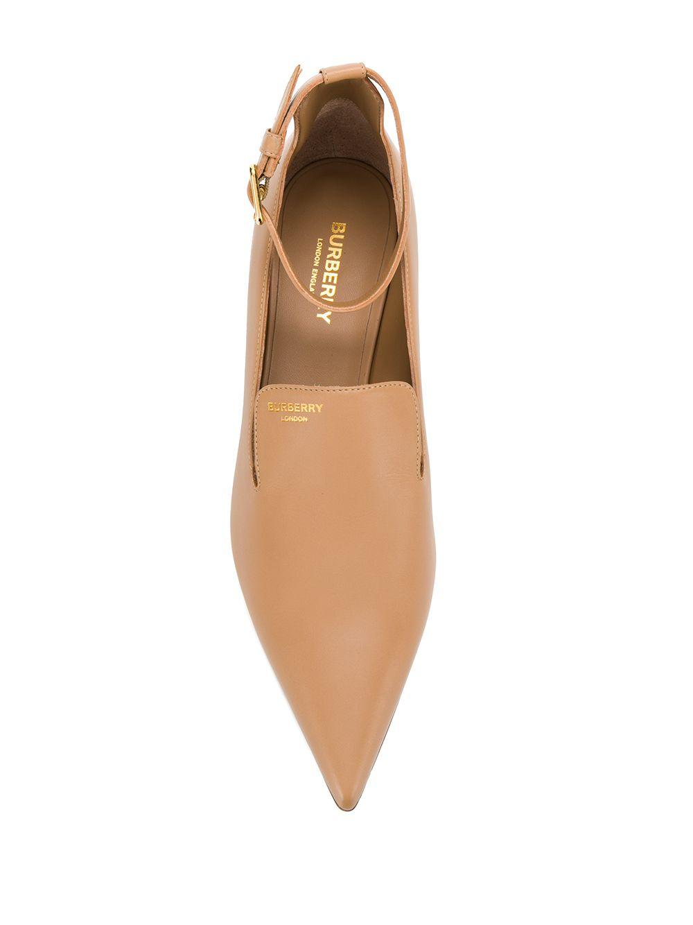 BURBERRY | pointed toe kitten heel pumps | Clouty