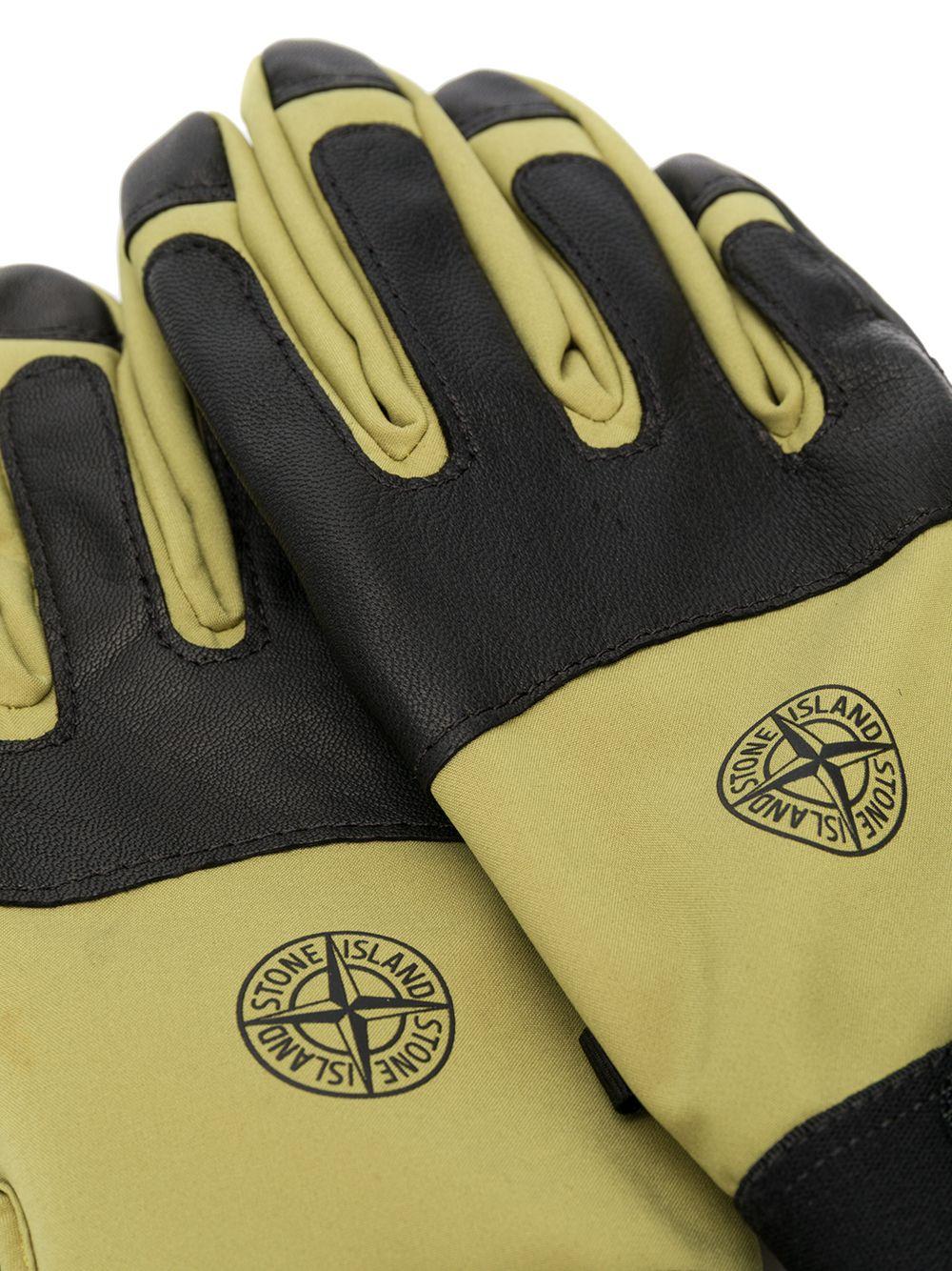 Stone Island   перчатки со вставками   Clouty