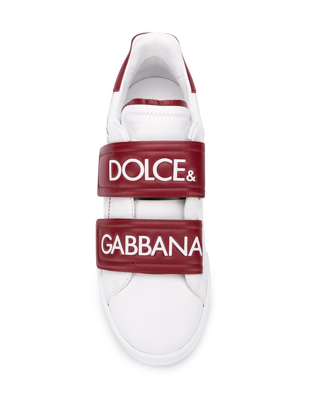 Dolce & Gabbana | кроссовки Portofino на липучке | Clouty