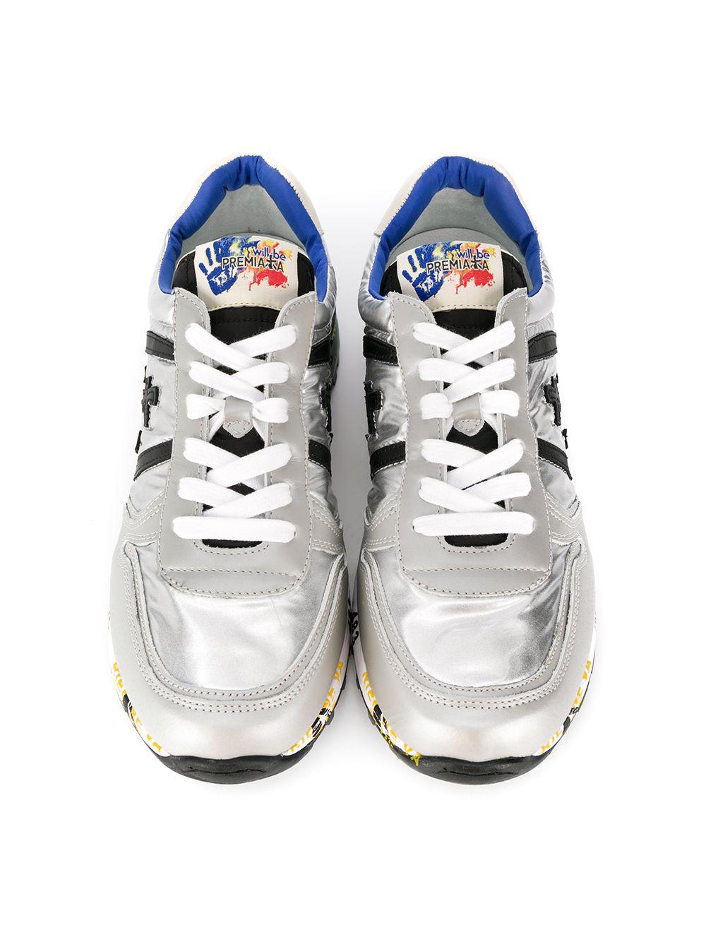 Premiata Kids | кроссовки с эффектом металлик | Clouty