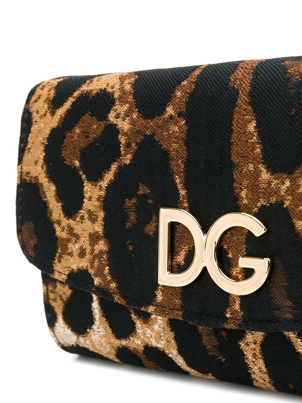 Dolce & Gabbana | сумка-кошелек с леопардовым принтом | Clouty