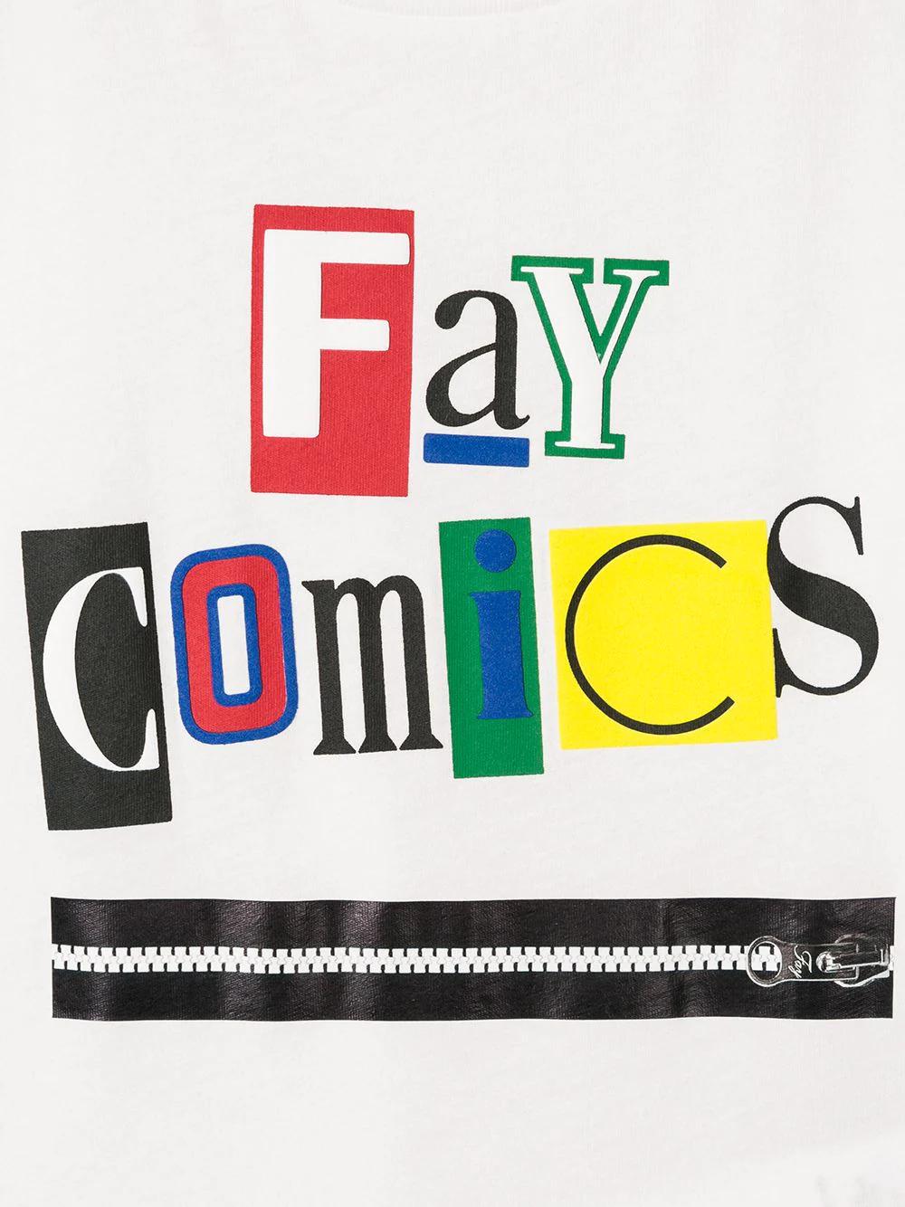 Fay Kids   Fay Kids футболка с длинными рукавами и принтом   Clouty