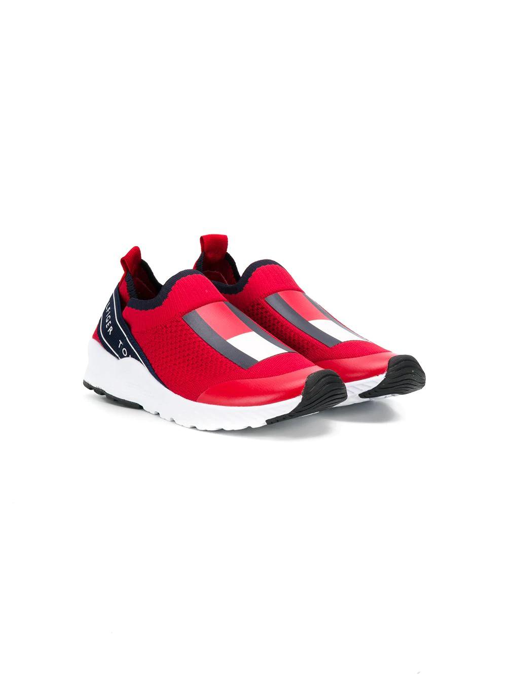 Tommy Hilfiger Junior | кроссовки в стиле колор-блок | Clouty