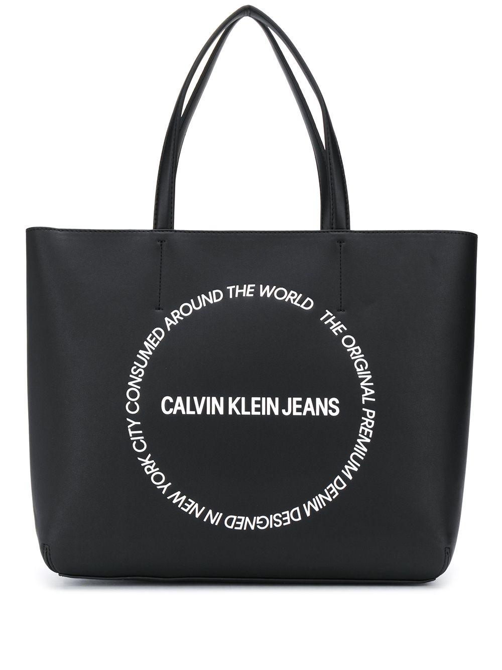 Calvin Klein Jeans | Calvin Klein Jeans большая сумка-тоут с логотипом | Clouty