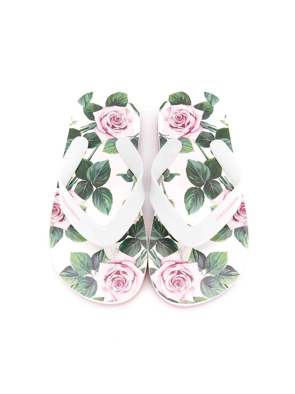 Dolce & Gabbana Junior   Dolce & Gabbana Kids шлепанцы с принтом   Clouty