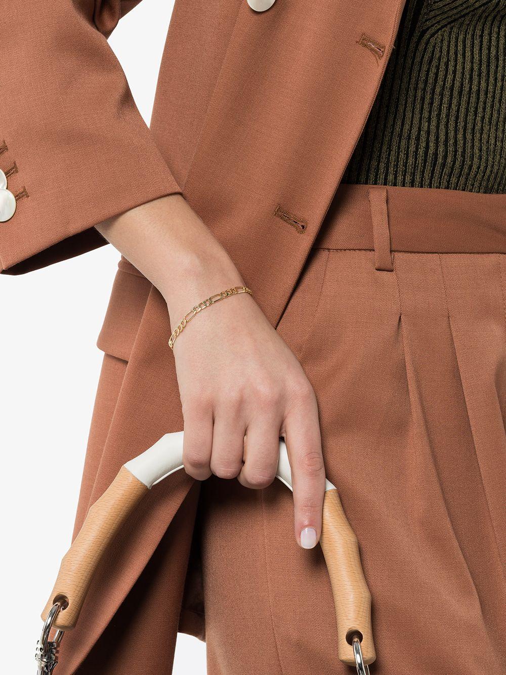 Loren Stewart | Loren Stewart золотой браслет-цепочка Figaro | Clouty