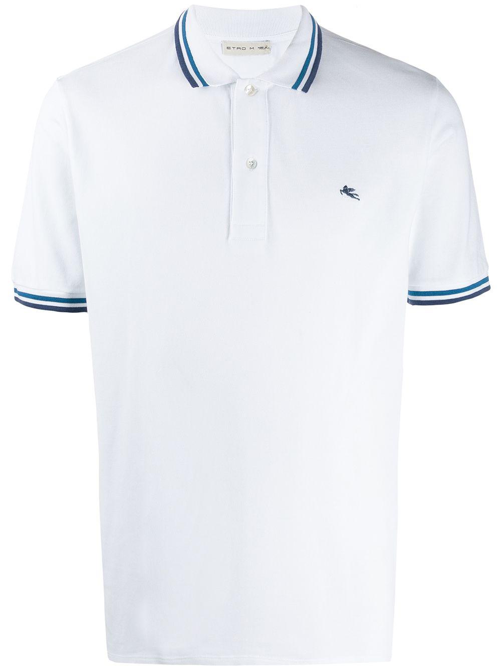 Etro   Etro рубашка-поло с отделкой в полоску   Clouty