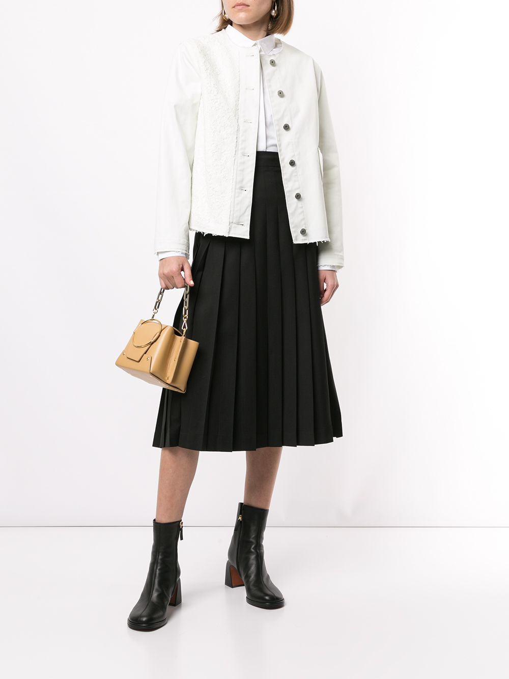 MSGM   MSGM юбка миди с плиссировкой   Clouty