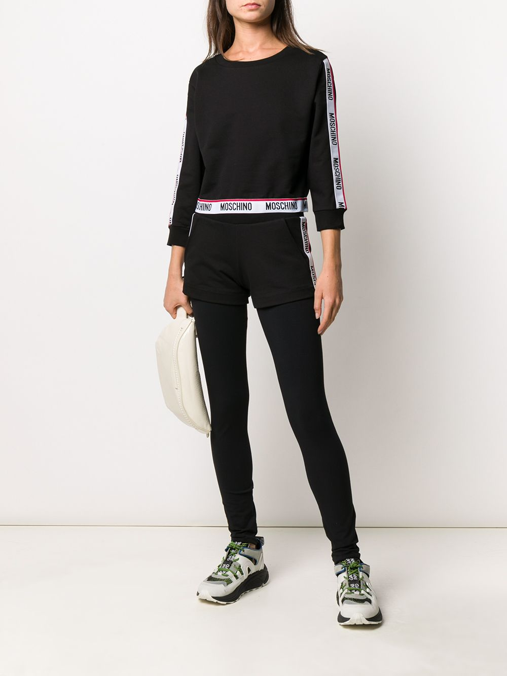 MOSCHINO | Moschino легинсы с логотипом на поясе | Clouty