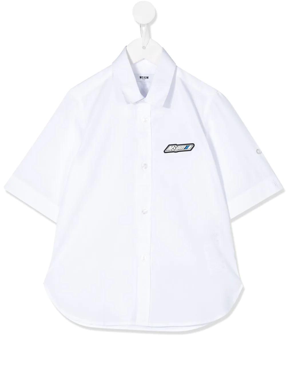 MSGM Kids | Msgm Kids рубашка с короткими рукавами и вышитым логотипом | Clouty