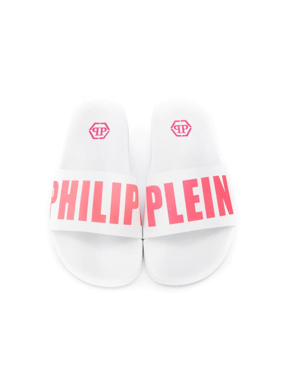 Philipp Plein   Philipp Plein шлепанцы с логотипом   Clouty
