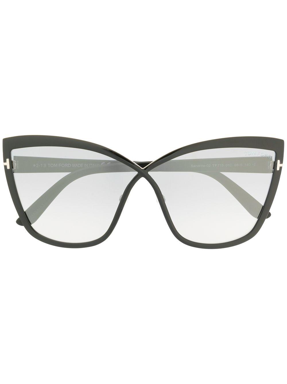 Tom Ford   массивные солнцезащитные очки Sandrine   Clouty