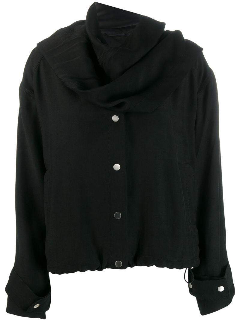 3.1 Phillip Lim | куртка с асимметричным воротником-шарфом | Clouty