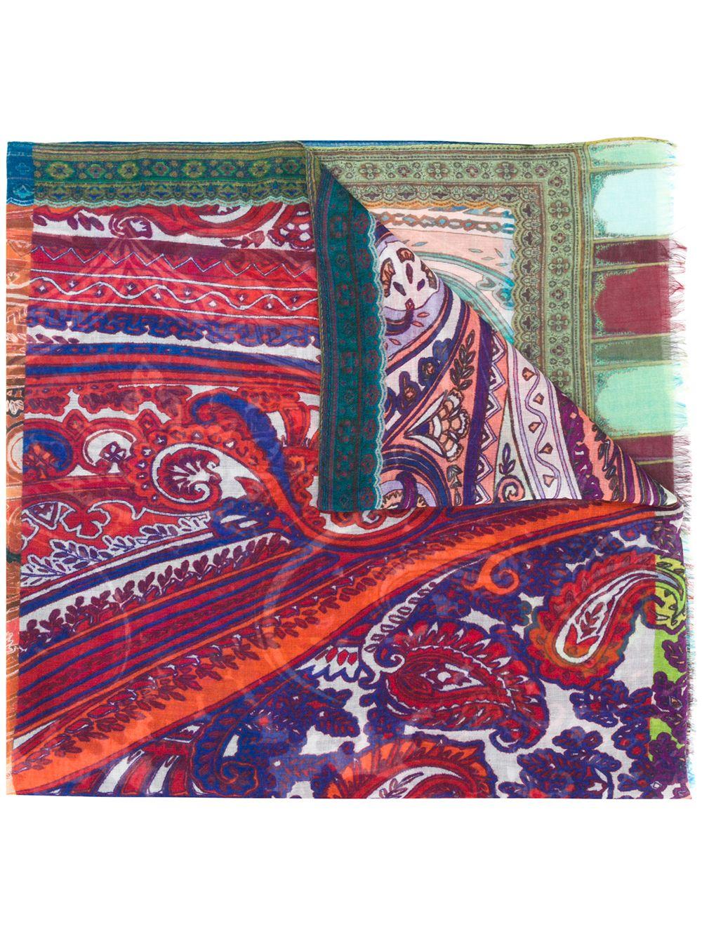 Etro | кашемировый шарф с принтом | Clouty