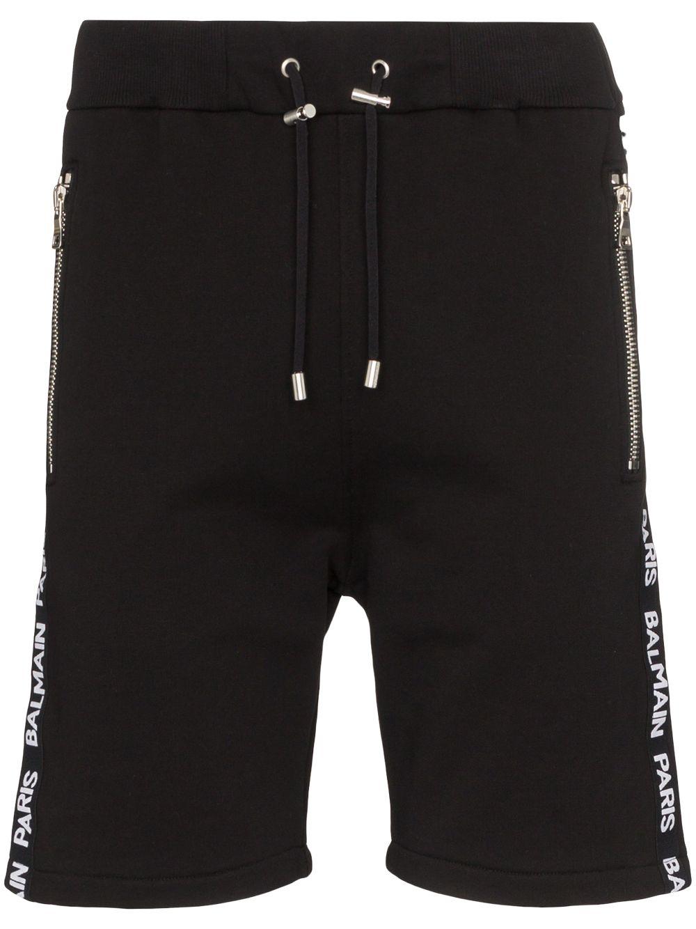 BALMAIN | Balmain спортивные шорты с логотипом на лампасах | Clouty