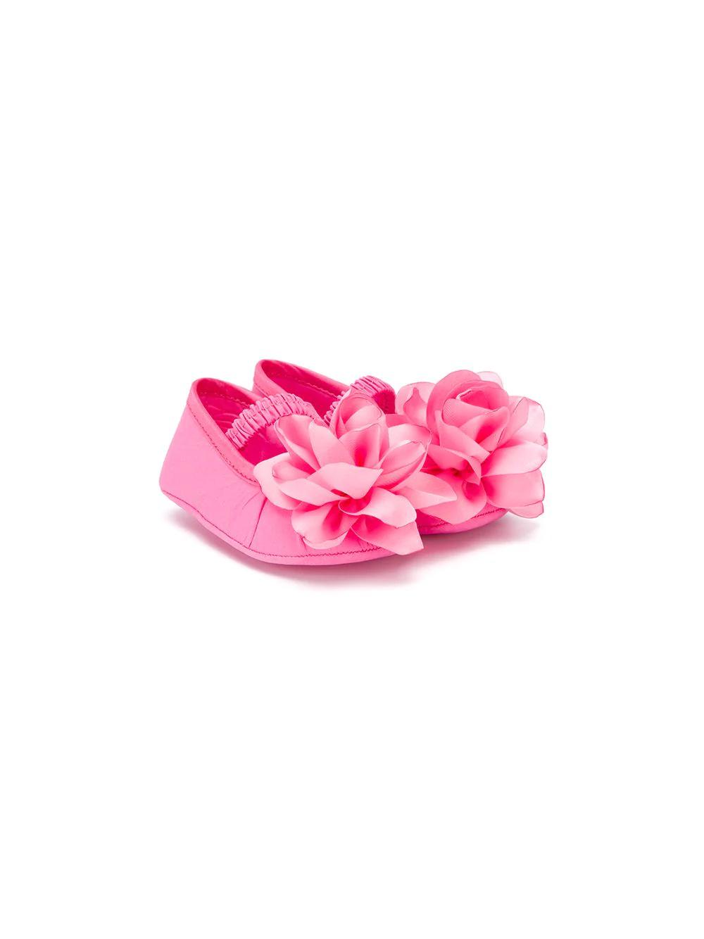 Monnalisa | балетки с цветочной отделкой | Clouty