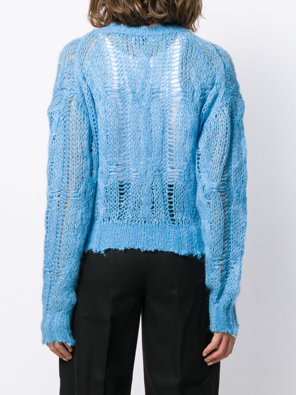 Acne Studios | фактурный свитер с необработанными краями | Clouty