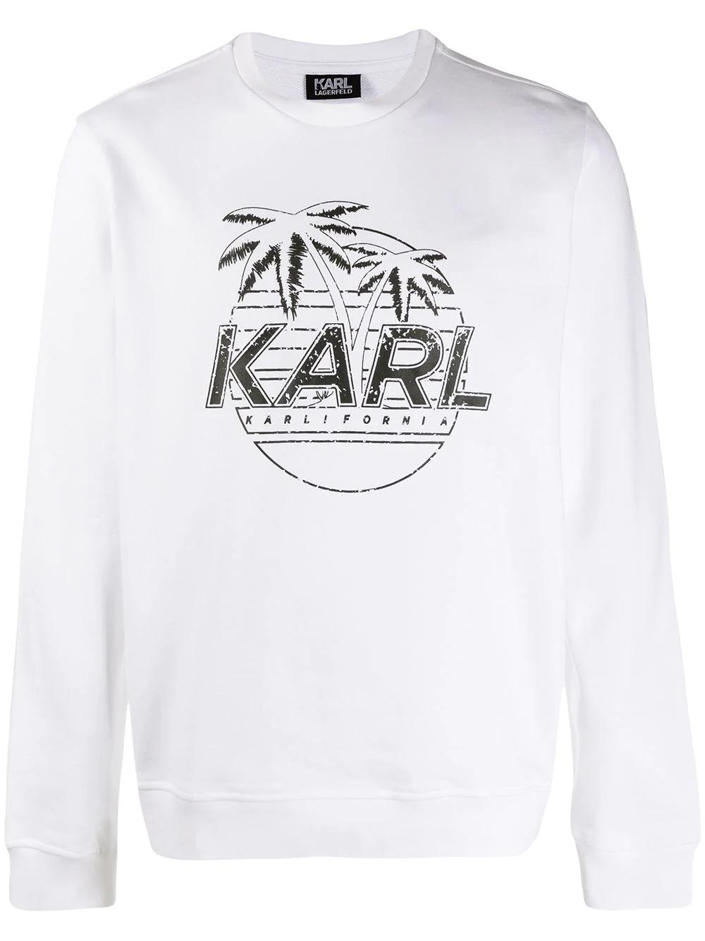 KARL LAGERFELD | Karl Lagerfeld толстовка с принтом | Clouty
