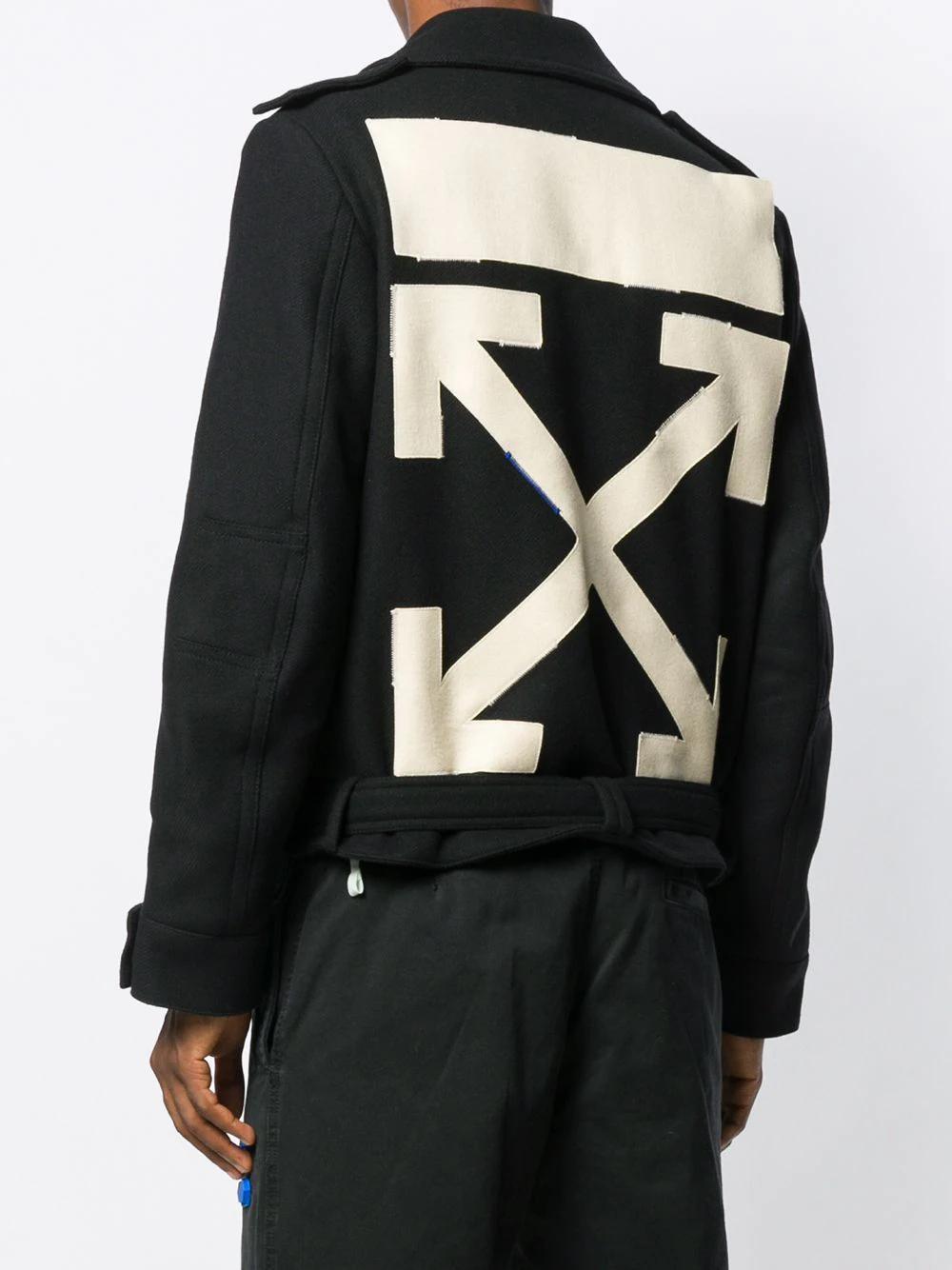 Off-White | укороченная куртка с логотипом | Clouty