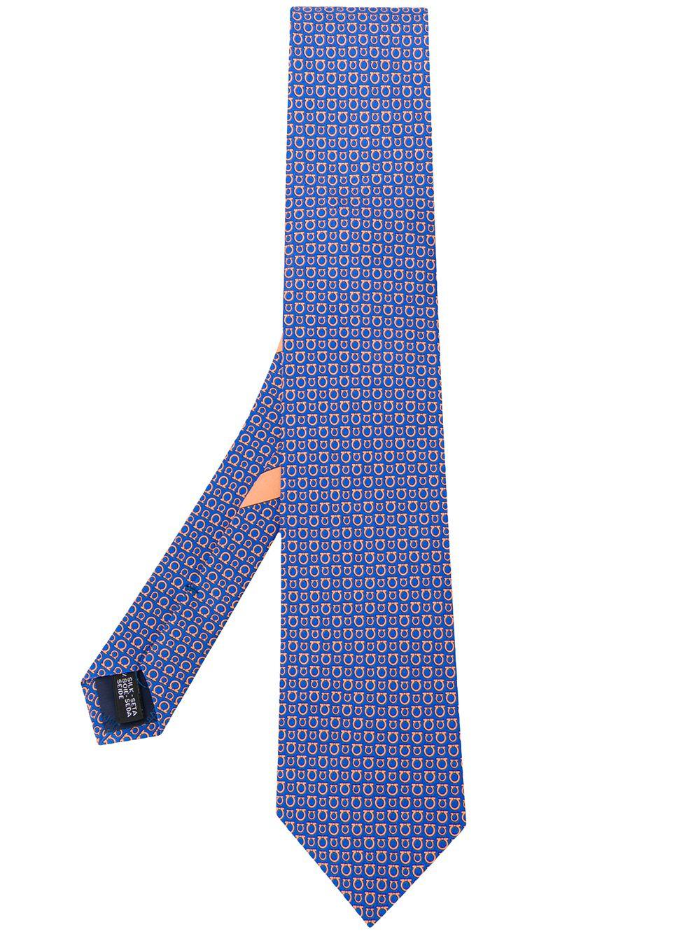 SALVATORE FERRAGAMO   галстук с узором Gancini   Clouty
