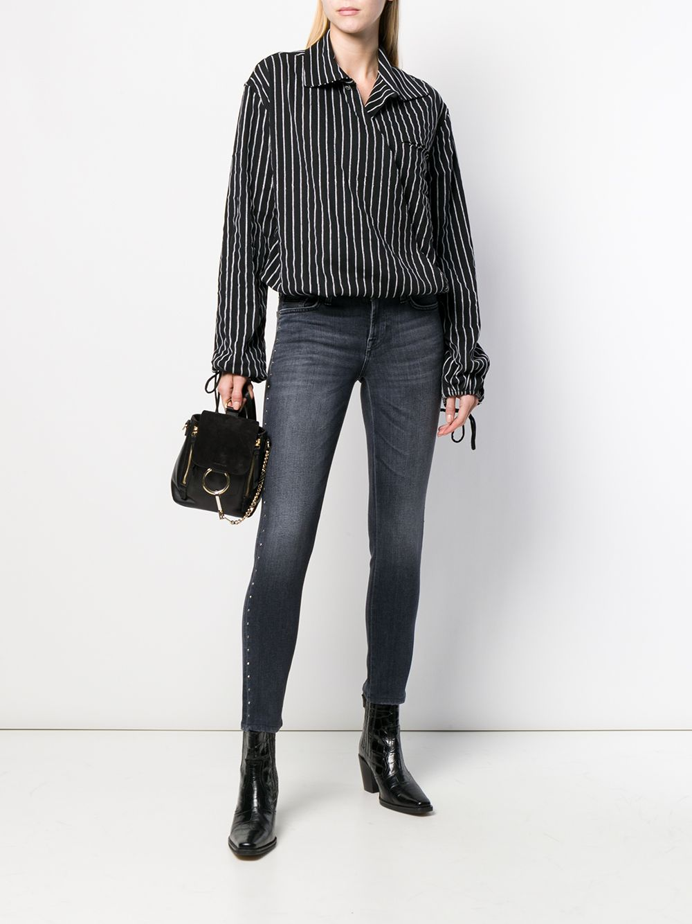 7 For All Mankind   7 For All Mankind джинсы с заклепками   Clouty