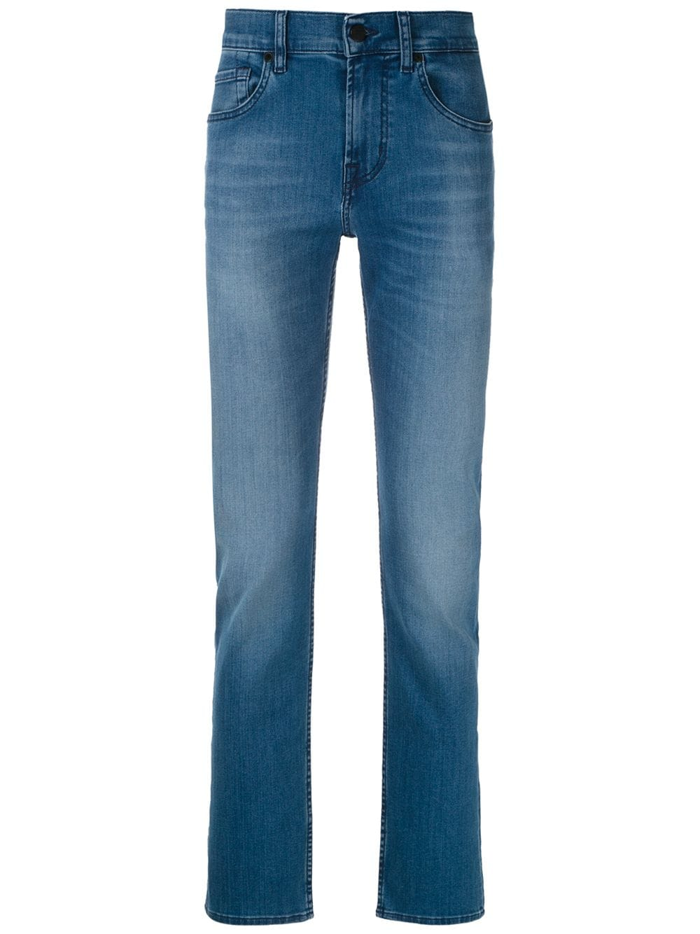7 For All Mankind   7 For All Mankind джинсы Slimmy Luxe прямого кроя   Clouty