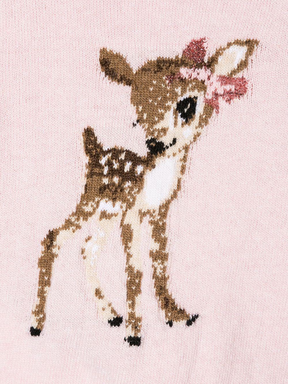 Monnalisa | bambi intarsia cardigan | Clouty