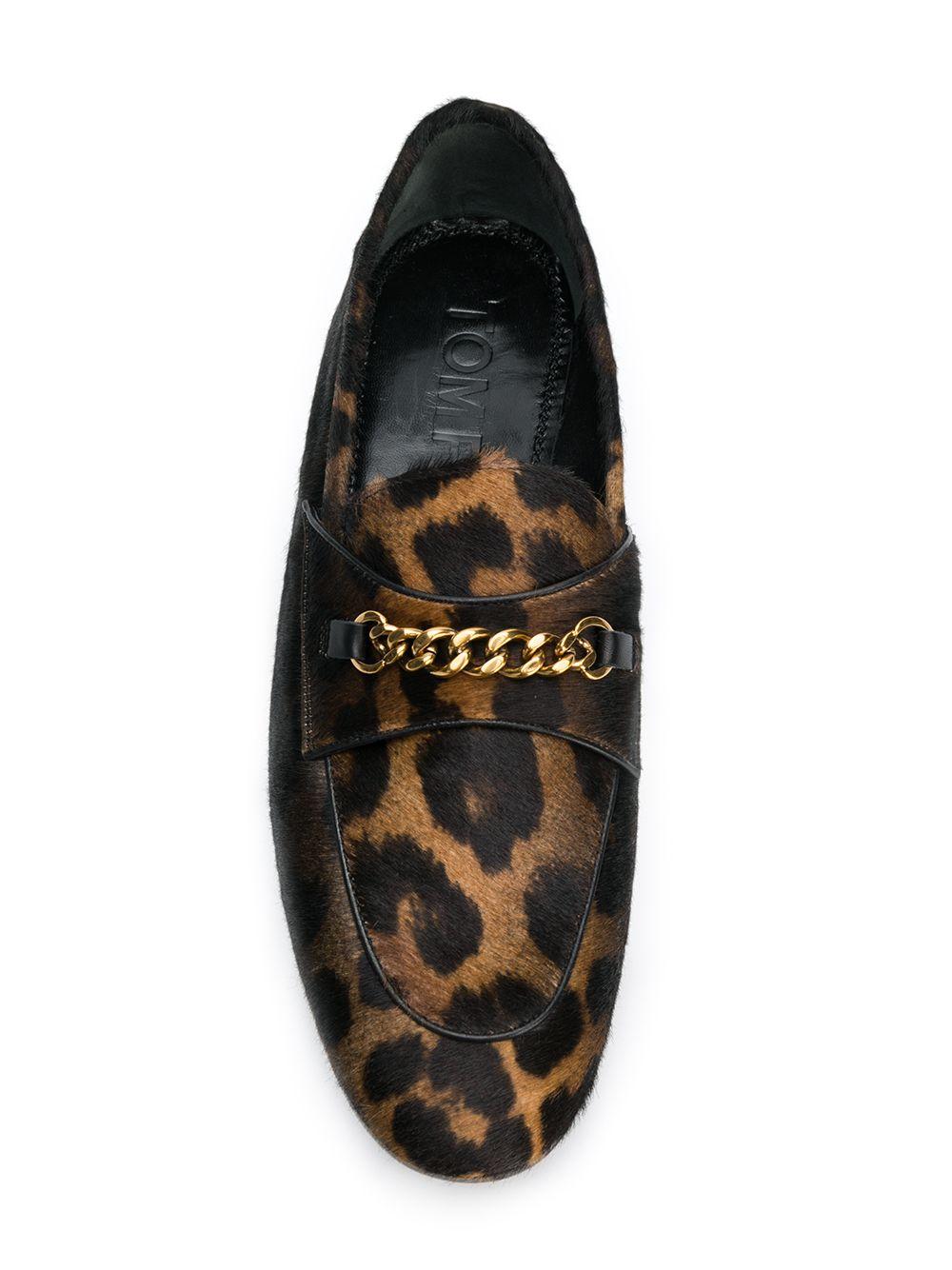 Tom Ford | лоферы с леопардовым принтом и пряжками | Clouty