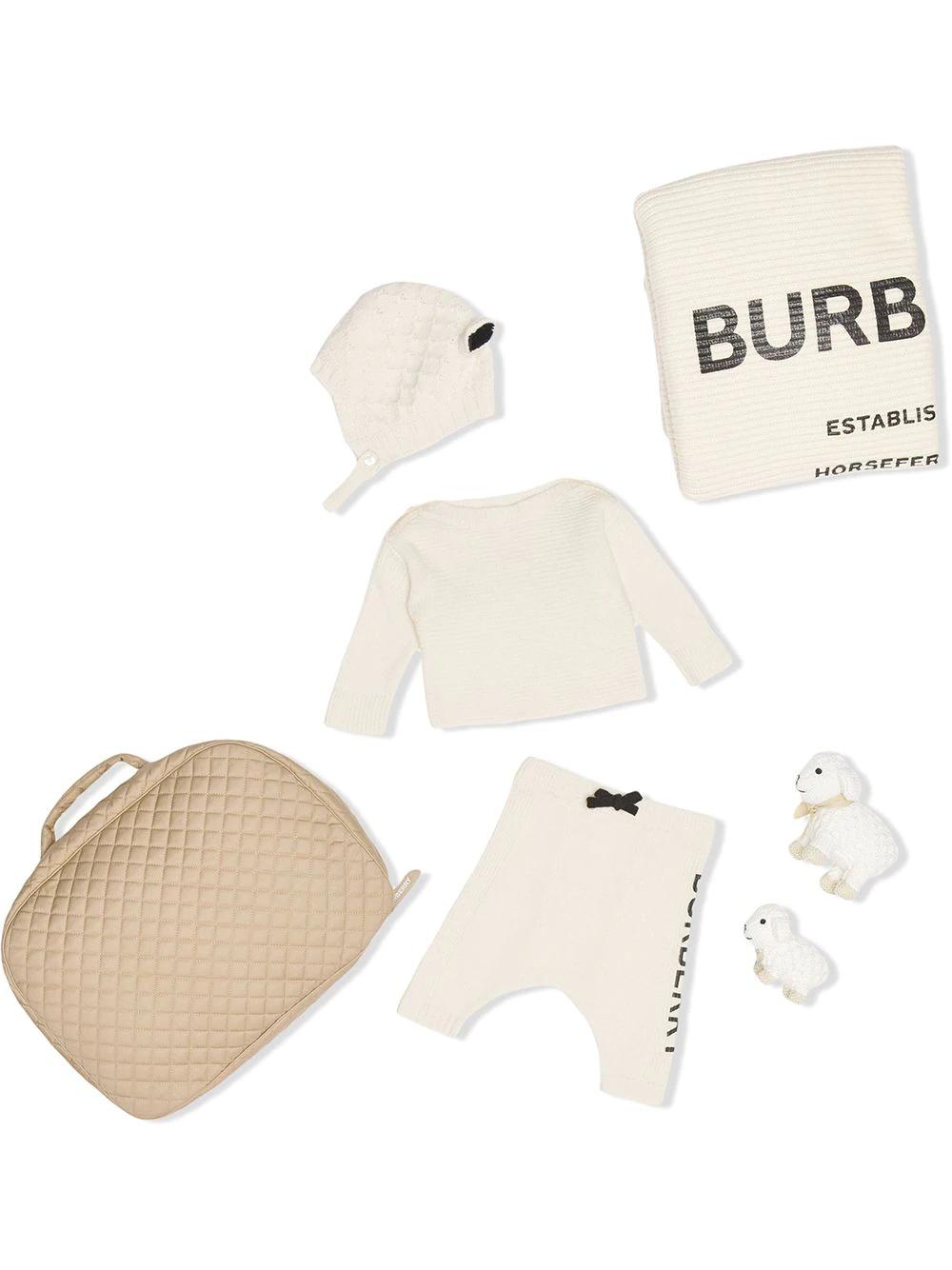Burberry Kids | logo print six-piece baby gift set | Clouty