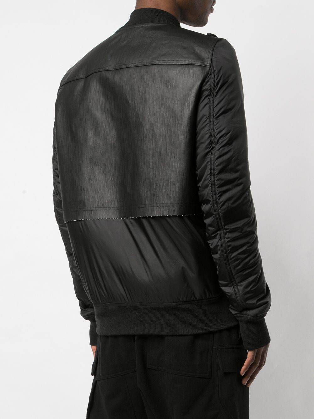 RICK OWENS | padded panelled leather jacket | Clouty