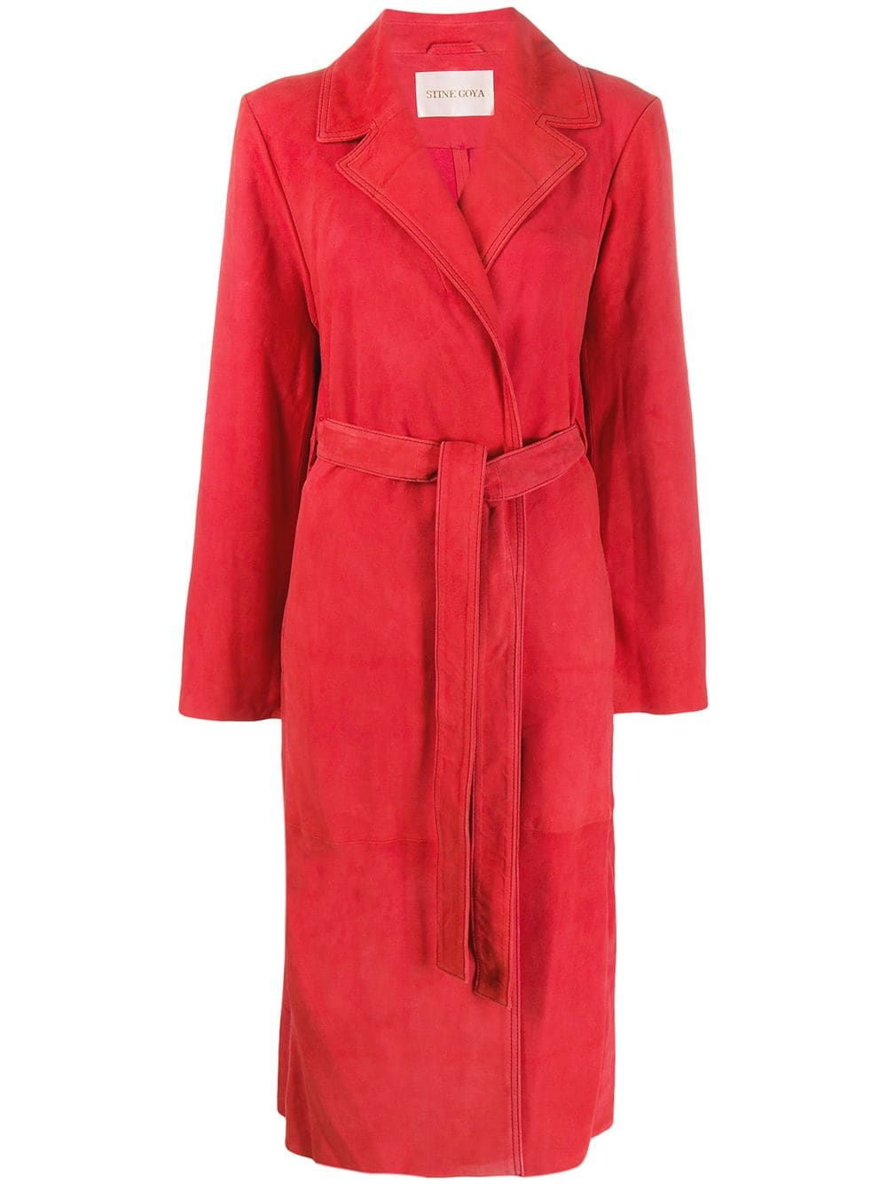 Stine Goya   тренч с поясом   Clouty