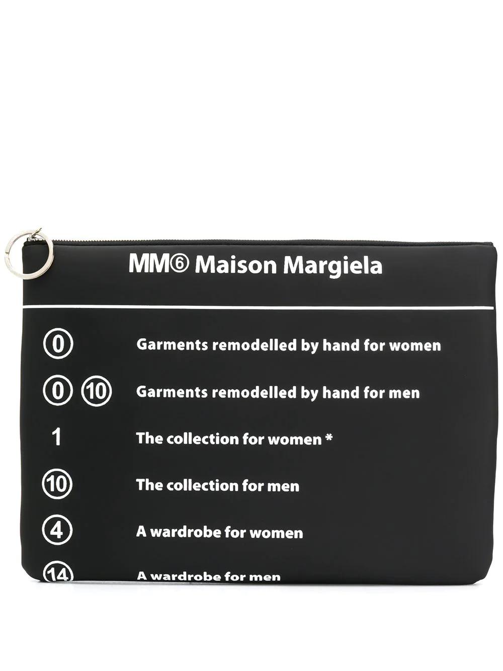 MM6 Maison Margiela | клатч с принтом | Clouty