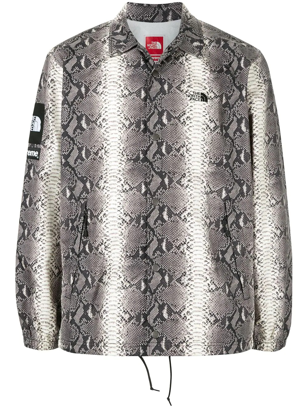 Supreme | Supreme спортивная куртка TNF со змеиным принтом | Clouty