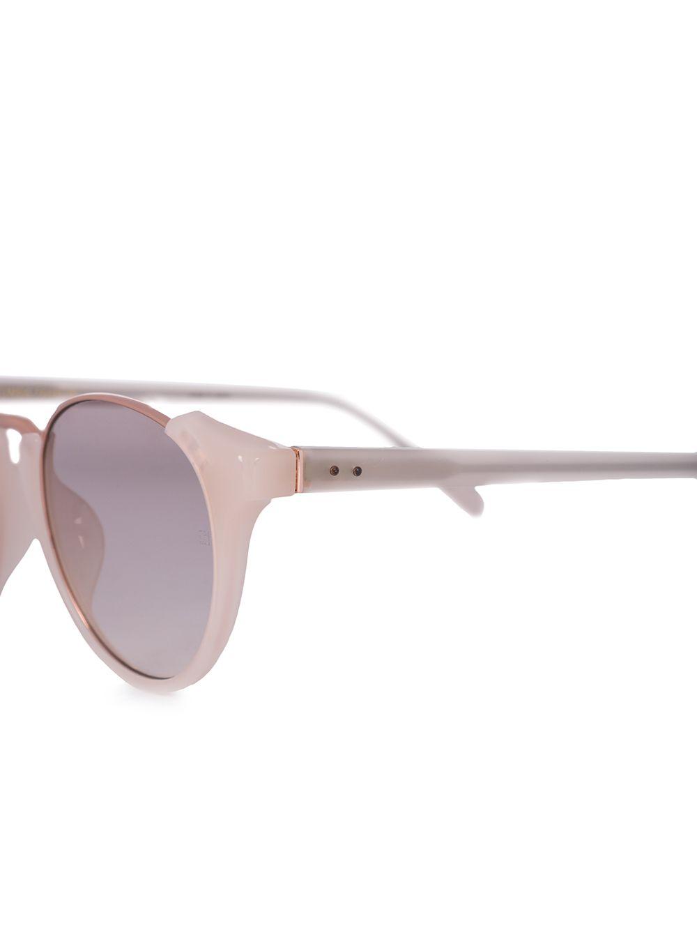 Linda Farrow | солнцезащитные очки в круглой оправе | Clouty