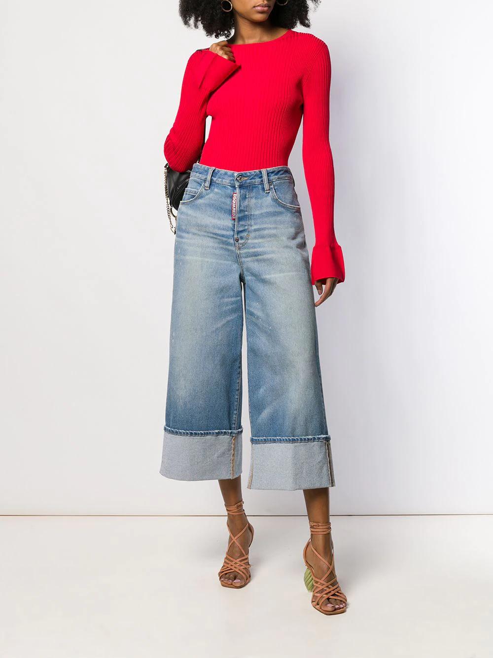 DSQUARED2 | Dsquared2 джинсы широкого кроя с выцветшим эффектом | Clouty