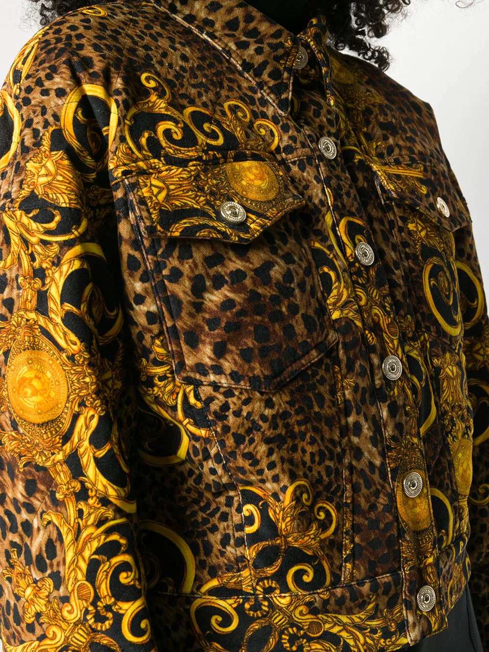 Versace Jeans | Versace Jeans Couture жакет с леопардовым принтом | Clouty