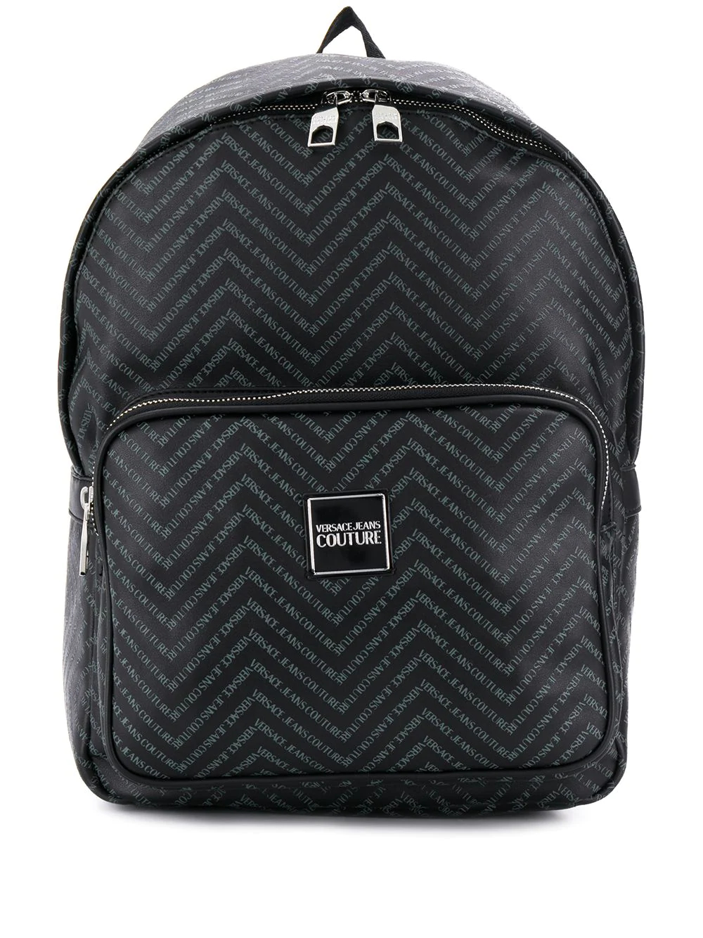 Versace Jeans | рюкзак с узором зигзаг и логотипом | Clouty