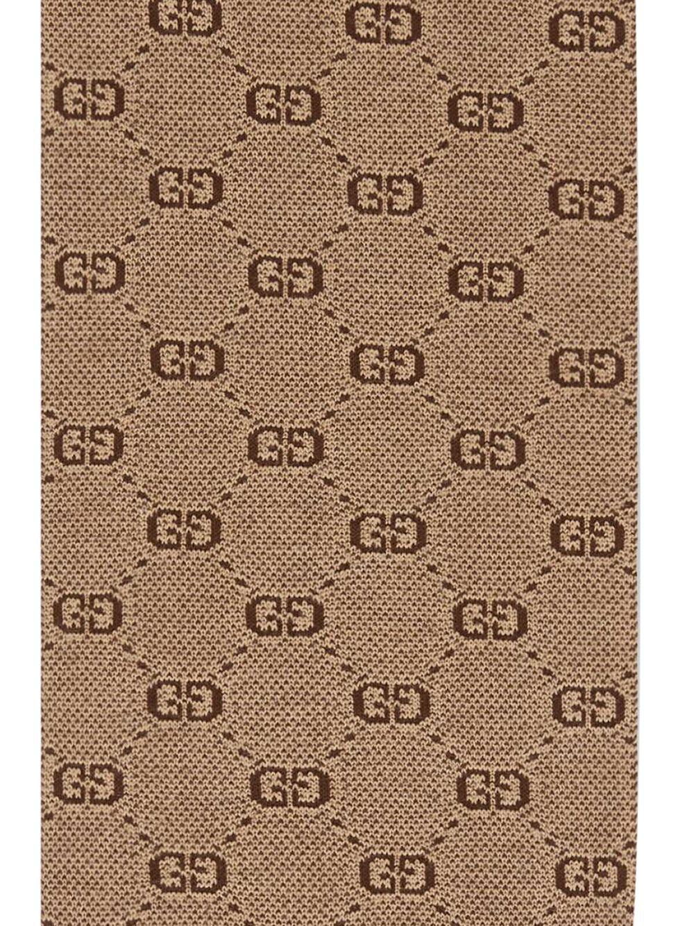Gucci Kids   трикотажный шарф с узором GG   Clouty