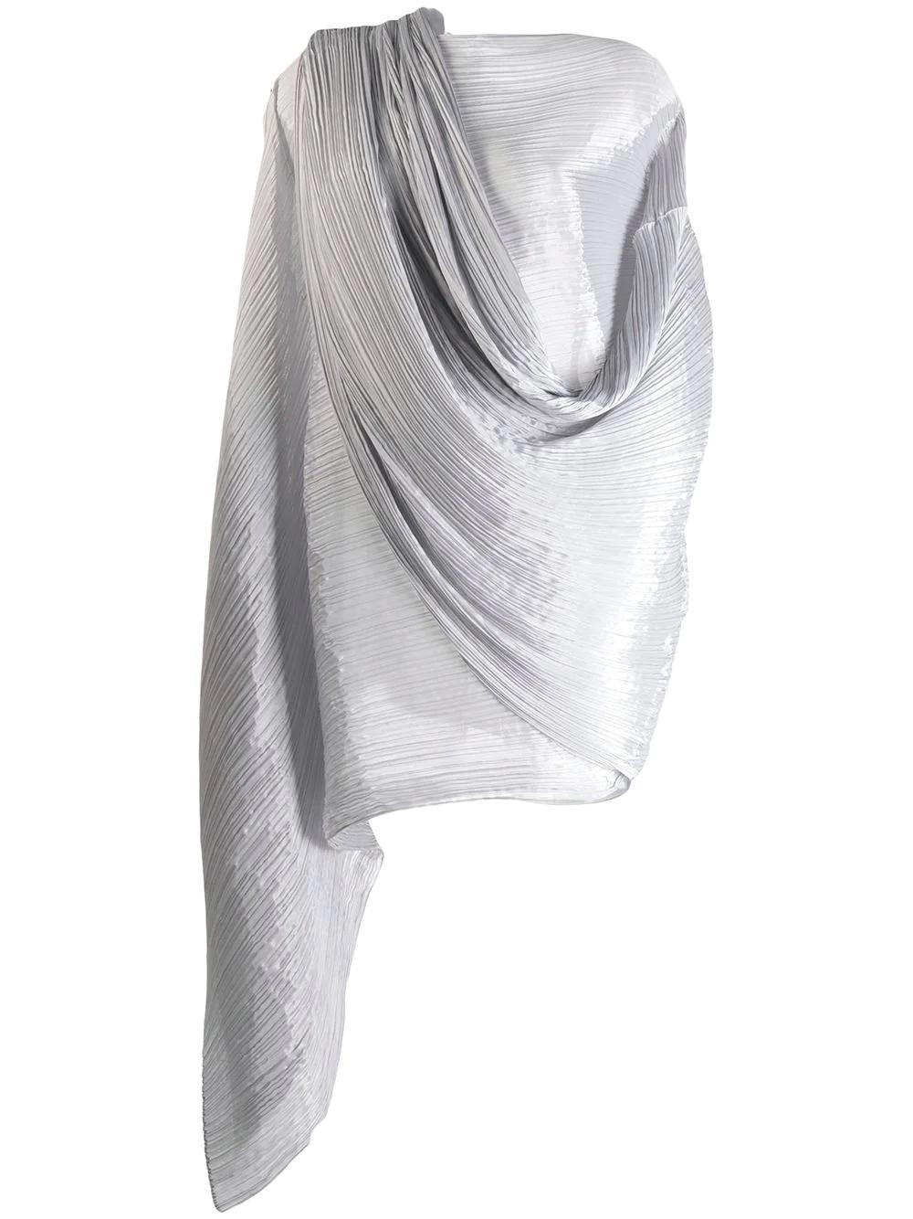 ISSEY MIYAKE | плиссированный шарф оверсайз | Clouty