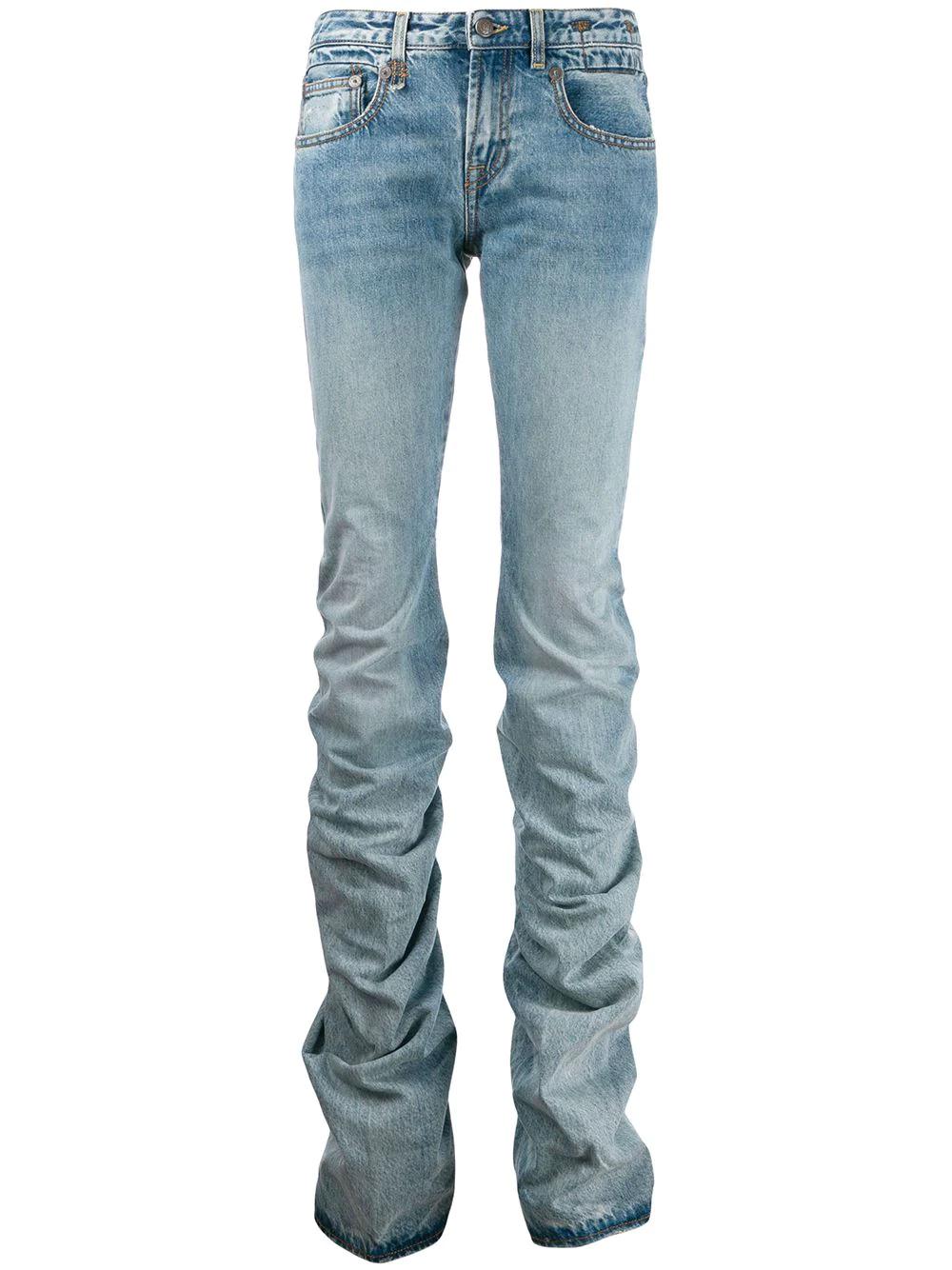 R13 | R13 джинсы прямого кроя со сборками | Clouty