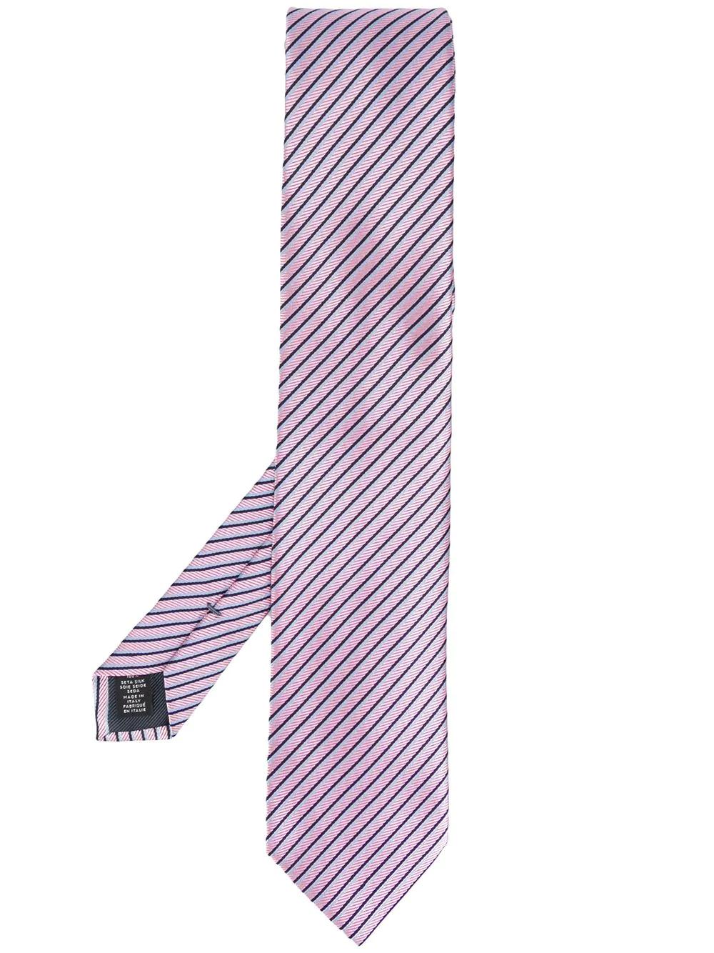 Ermenegildo Zegna | галстук в диагональную полоску | Clouty