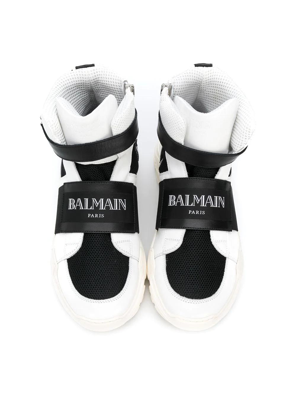 Balmain Kids | высокие кроссовки с логотипом | Clouty