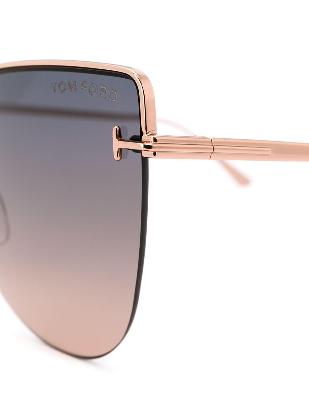 Tom Ford   солнцезащитные очки Ingrid в массивной оправе 'кошачий глаз'   Clouty