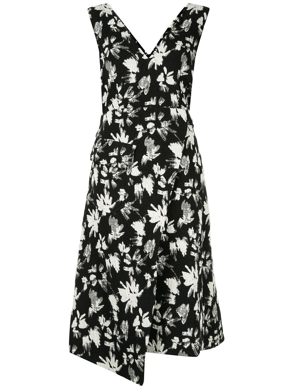 Goen.J   платье с запахом и цветочным принтом   Clouty