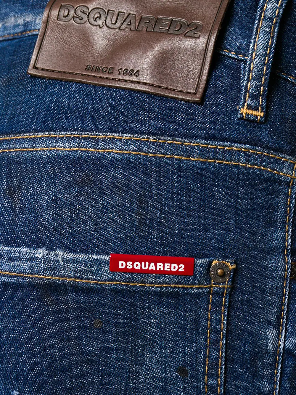 DSQUARED2 | Dsquared2 укороченные джинсы со вставками | Clouty