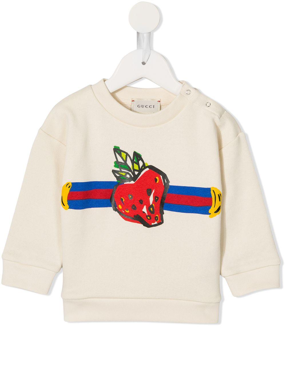 Gucci Kids | толстовка в полоску с принтом | Clouty
