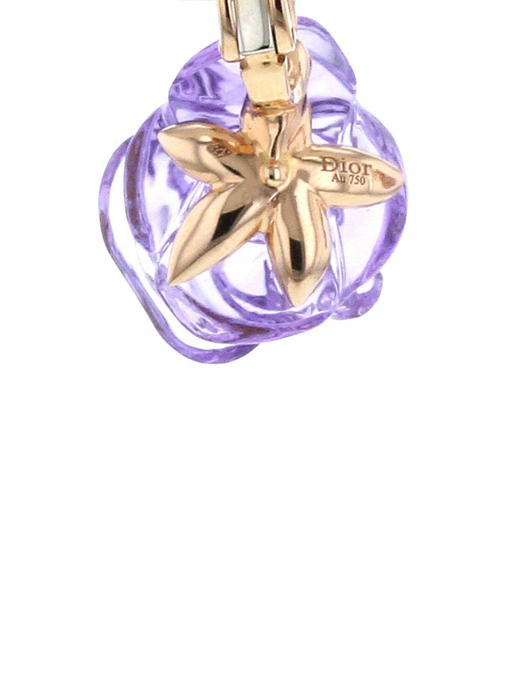 Dior | Christian Dior серьги Pre Catelan из розового золота с аметистами и бриллиантами pre-owned | Clouty
